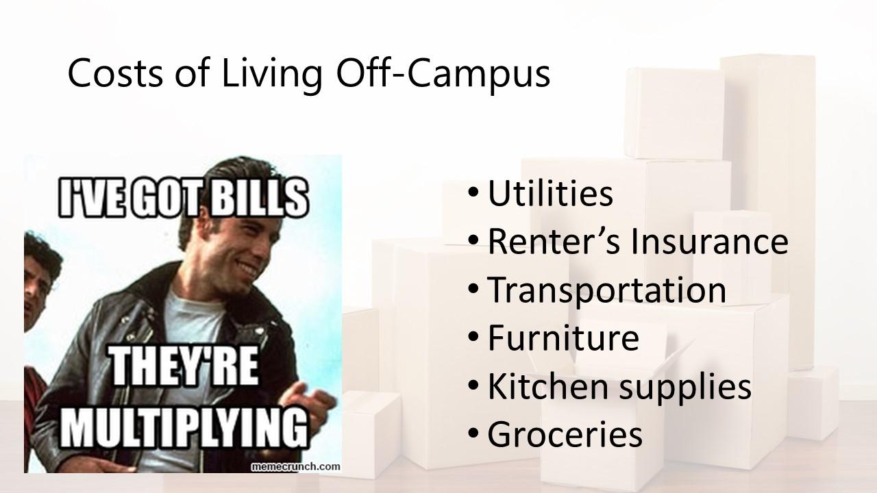 living off campus